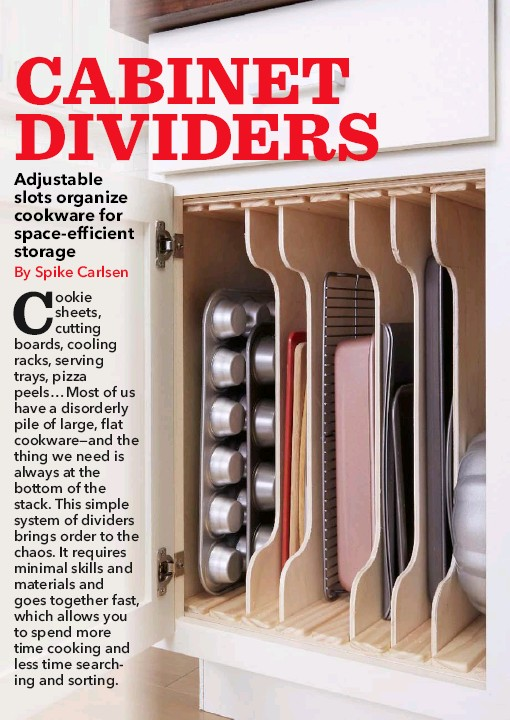 Kitchen Cabinet Dividers