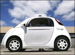 ?? TONY AVELAR, THE ASSOCIATED PRESS ?? Google's self-driving car. The advent of the driverless car may mean the end of private car ownership.