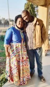 ??  ?? BONGI Muzawazi with husband Roger Muzawazi