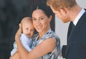 ?? GETTY IMAGES ?? Harry and Meghan with Archie in South Africa in 2019