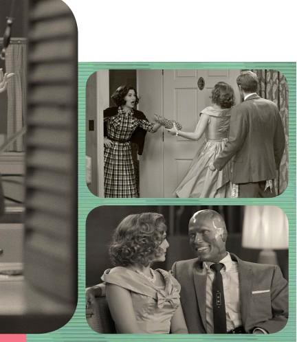 ??  ?? HOWDIE! Kathryn Hahn plays neighbour Agnes. (top).