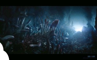 ??  ?? top left: concept art by dneg showing the oceanic abyss based on the Mariana trench