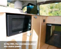 ??  ?? In the V80, the microwave plugs into mains power