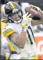 ?? THE ASSOCIATED PRESS ?? Receiver Chase Claypool and the Steelers are seeing their schedule changed for a second time this season as a result of an opponent's COVID-19 outbreak.