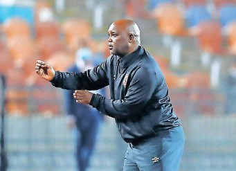 ?? KHALED ELFIQI EPA ?? AL Ahly's former Sundowns coach Pitso Mosimane reacts during the Egyptian Premier League match against Zamalek in Cairo on Monday. The match between the bitter rivals ended 1-1. |
