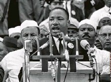 """?? Associated Press file photo ?? Martin Luther King Jr. addresses marchers during his """"I Have a Dream"""" speech at the Lincoln Memorial on Aug. 28, 1963."""