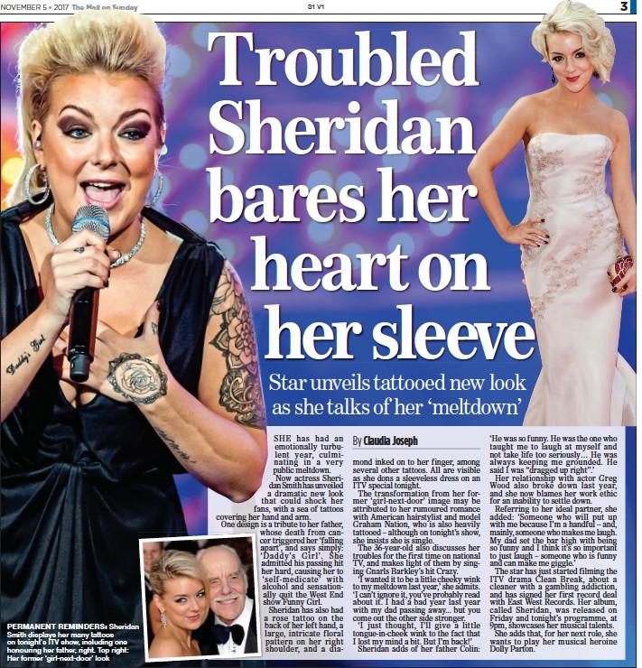 Troubled Sheridan Bares Her Heart On Her Sleeve Pressreader