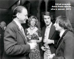 ??  ?? Oxford occasion: André Previn relaxes after a concert, 1970