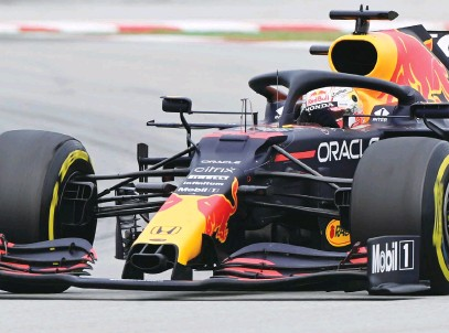 ?? Picture: AFP ?? NEED FOR SPEED. After yet another second-placed finish in Spain, Max Verstappen has conceded that his car is still simply too slow.