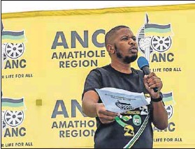 ?? Photo: Facebook ?? Time to step aside: Teris Ntuthu was axed from his position on the ANC'S Eastern Cape PEC last weekend.