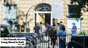 ?? Paul Gillis ?? The Pursuit of Love being filmed in Bath