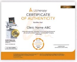 ??  ?? Ask to see your clinic's Cer­tifi­cate of Au­then­tic­ity