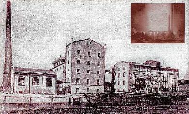 ?? Fotos: Archiv Bodo Becker ?? Brannte mehrfach ab: Die Dampfmühle auf einem Foto zu Anfang des 20. Jahrhunderts.
