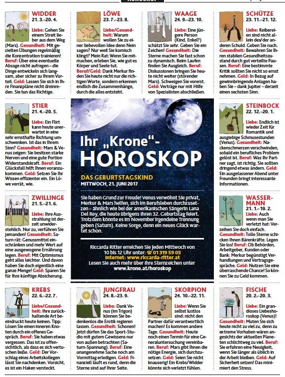 Kronen Zeitung Horoskop Löwe