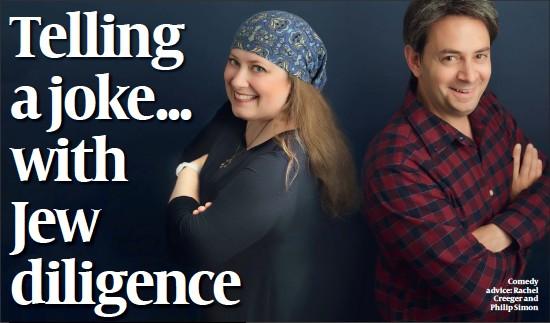 ??  ?? Comedy advice: Rachel Creeger and Philip Simon
