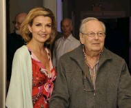 ??  ?? Musical partners: with violinist Anne-sophie Mutter, 2012
