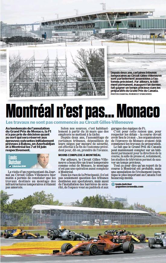 ?? PHOTOS CHANTAL POIRIER ET D'ARCHIVES ?? Depuis deux ans, certaines tribunes temporaires au Circuit Gilles-Villeneuve sont partiellement assemblées à l'automne précédent. Par ailleurs, le bâtiment permanent, inauguré l'an dernier, fait gagner un temps précieux dans les préparatifs du Grand Prix du Canada.