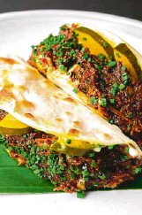 """??  ?? Thevar's """"chetinaad"""" chicken roti, pepper and pickles"""