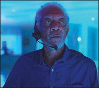 """??  ?? Damon (Morgan Freeman) is a hero cop who retired after he was shot in the line of duty. But he's also got his secret crime organization on the side in """"Vanquish."""""""