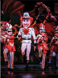 ??  ?? ABOVE: CELEBRATING THE 75TH ANNIVERSARY OF THE NUTCRACKER BALLET.