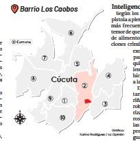 ?? Gráfico: Karina Rodríguez / La Opinión ?? Barrio Los Caobos Cúcuta