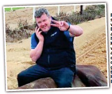 ??  ?? Picture that shocked the world: Elliott sits astride the horse Morgan, who died after collapsing on the gallops at the trainer's HQ in Ireland