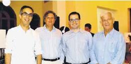 ??  ?? Nicolas Tirado, Juan Fernando Gaviria , Héctor Ramírez y Sergio Espinosa.
