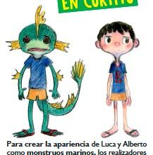 ??  ?? Para crear la apariencia de Luca y Alberto como monstruos marinos, los realizadores se inspiraron en los pulpos, capaces de camuflarse y cambiar su aspecto.