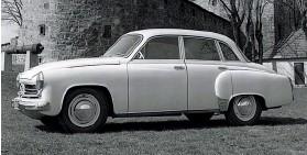 ??  ?? Wartburg 311 выпуска 1956 года выглядел вполне современно, но имел двухтактный трёхцилиндровый мотор.