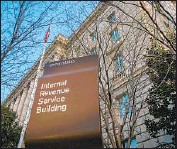 ?? J. David Ake Associated Press ?? THE NEW IRS estimates include the use of cryptocurrency. Above, its headquarters in Washington.