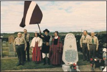 ??  ?? The funeral of the Latvian sailors in 1936.