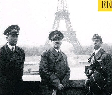 ??  ?? Adolf Hitler with architect Albert Speer, left, in Paris in 1940. Speer, who didn't think much of Hitler's intelligence, poured flattery into the Fuehrer's ear and won a place for himself in the inner circle.