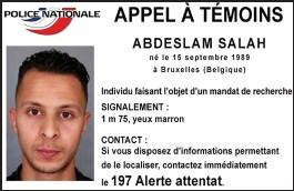 ??  ?? Manhunt: The arrest warrant for 'dangerous' Abdeslam Salah