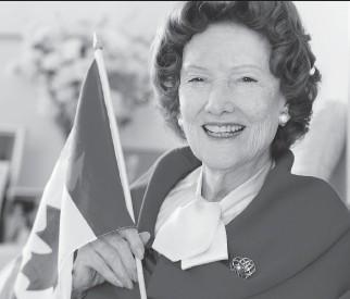 ?? BRUCE DEACHMAN/OTTAWA CITIZEN ?? Ann Lazear was a social studies teacher at York Street Public School on Feb. 15, 1965, when she wrote A Canadian Flag, a poem honouring the country's new flag.