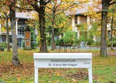 ?? Foto: Benjamin Reif ?? Im Seniorenzentrum St. Klara in Wertingen haben sich mehrere Menschen mit dem Coronavirus infiziert.