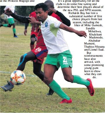 ??  ?? Moegamat Bernard is among the quality players back at the uMhlathuze Stadium this season Dave Savides