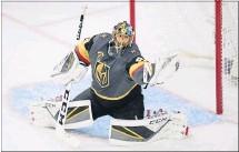 ?? [ USA TODAY Sports ] ?? Kein Durchkommen: Der 33-jährige Kanadier Marc-Andre´ Fleury schreibt mit seinen Vegas Golden Knights NHL-Geschichte.