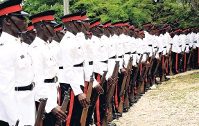 ?? FILE ?? Constables dressed in new uniforms during a graduation ceremony at the Jamaica Police Academy in Twickenham Park, St Catherine.