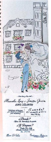??  ?? Este formato permite que la persona deslice la tarjeta y al hacer ese movimiento hace que el novio pueda cargar a la novia.