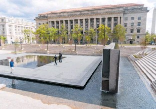?? Photo / AP ?? The newly opened WWI memorial in Washington, DC.