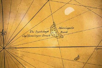 ??  ?? Scarborough Shoal in an old map
