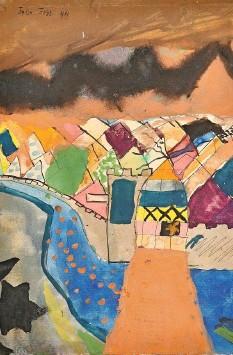 ??  ?? Diese Zeichnung von Felix Klee inspirierte seinen Vater …