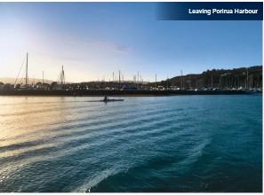 ??  ?? Leaving Porirua Harbour