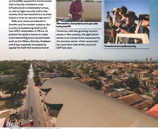 ??  ?? CNN Inside Africa: The Gambia honors its past, while looking ahead HDThe tourism sector is rapidly expanding