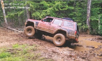??  ?? Lots of mud on Cranfield's Revenge.