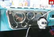 ??  ?? 46 We chose to go with the black powder coated steering column, but Ididit also offers them in machined and polished finishes. This is a tilt column that also has a built in neutral safety switch, column mounted shifter, and all the levers and knobs for turn signals and hazard lights.