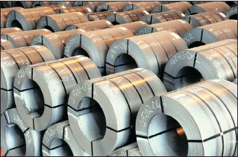 ?? PHOTO: SUPPLIED ?? ArcelorMittal coil steel. Amsa is conducting a review of its long steel business after lowered production figures for March.