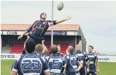 ??  ?? Vikings veteran Russ Wilkie aims to collect a line-out