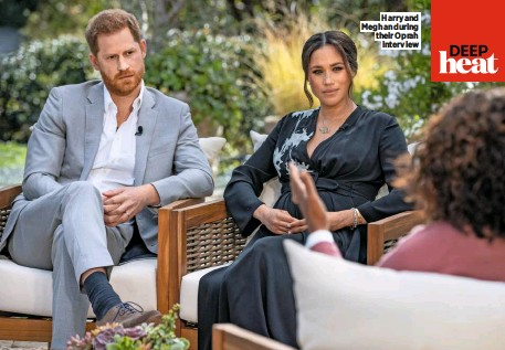 ??  ?? Harry and Meghan during their Oprah interview