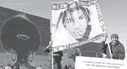 ??  ?? Trayvon Martin's death in 2012 in­spired protests around the coun­try and sparked Black Lives Mat­ter.